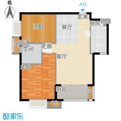 天津湾海景雅苑92.77㎡高层标准面积9277m户型