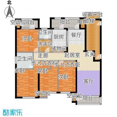 海川园189.00㎡一期33-35号楼标准层B1户型