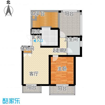 天江格调兰庭70.70㎡面积7070m户型