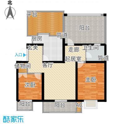天江格调兰庭94.67㎡面积9467m户型