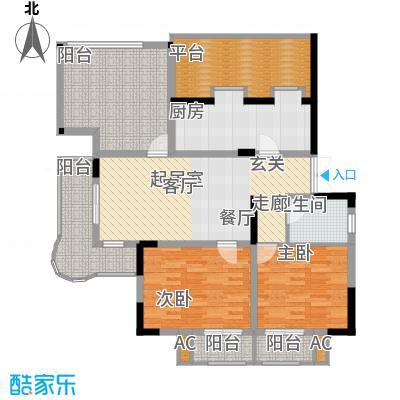 天江格调兰庭91.38㎡面积9138m户型