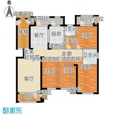 海川园189.00㎡33、35号楼标准层B1户型