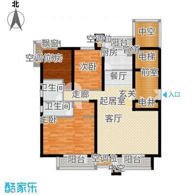 海川园147.00㎡洋房标准层C1户型