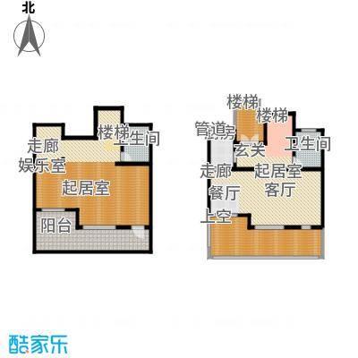 海川园297.80㎡一期25号楼标准层A2户型
