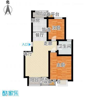 天津滨海现代城89.88㎡洋房标准层a户型