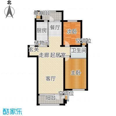 海川园121.00㎡33-35号楼标准层B2户型