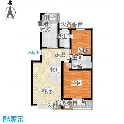 天津滨海现代城105.00㎡洋房标准层b户型