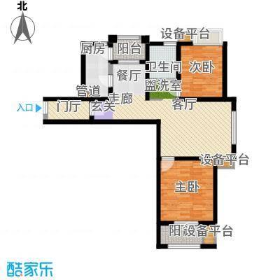 天津滨海现代城97.52㎡洋房标准层d1户型