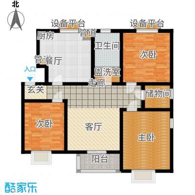 天津滨海现代城101.95㎡洋房标准层g户型