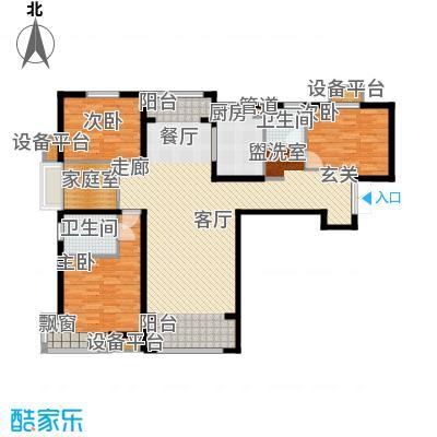 中交启航嘉园144.00㎡高层标准层E户型