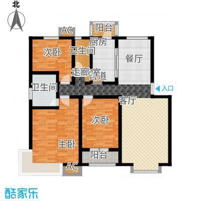 天房四季163.00㎡1-8号楼标准层B户型