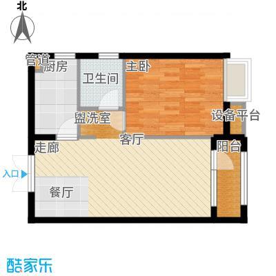 中交启航嘉园65.00㎡高层标准层A户型
