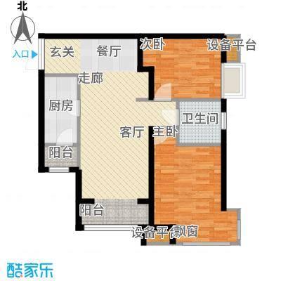 中交启航嘉园85.00㎡高层标准层B2户型