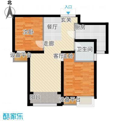 中交启航嘉园85.00㎡高层标准层B1户型