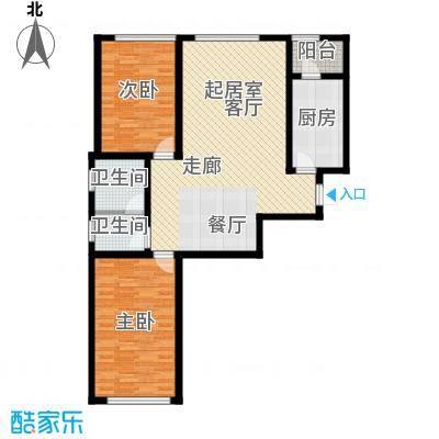顶佳金领地130.00㎡二期高层3#楼标准层C1户型