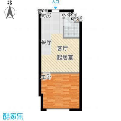 恒盛SOHO40.00㎡一期1号楼标准层A户型