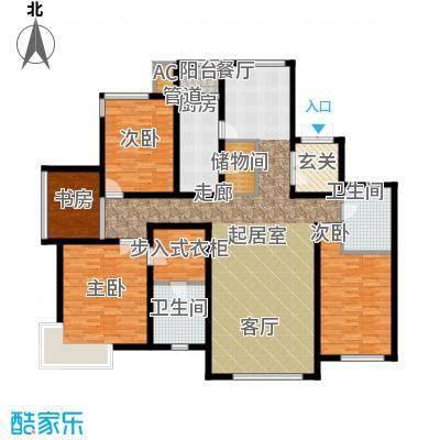 融创奥城领峰211.99㎡八期40号楼标准层银角户型