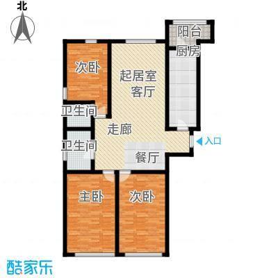 顶佳金领地165.00㎡一期高层1、2#楼标准层A1户型