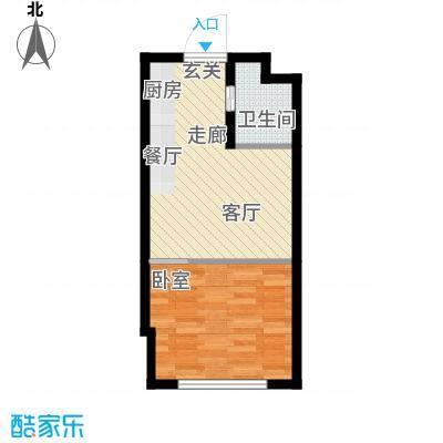 恒盛SOHO二号楼40.00㎡一期公寓标准层A户型