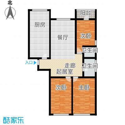 顶佳金领地180.00㎡一期高层1、2#楼标准层A4户型