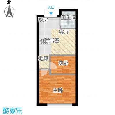 恒盛SOHO44.00㎡一期1号楼标准层B户型