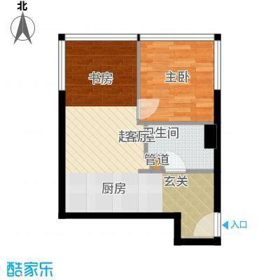 融创奥城领峰62.54㎡酒店式公寓标准层B户型