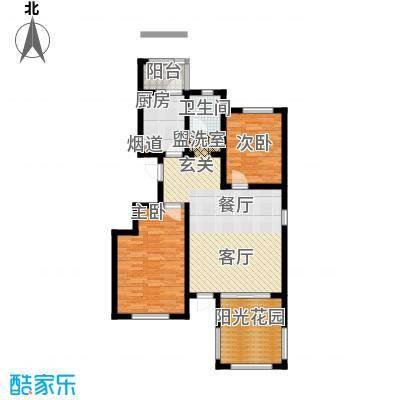 弘祥家园96.00㎡1、2、3#楼A单元首层2室户型