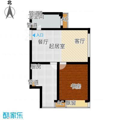绿岛公寓88.65㎡高层标准层B户型