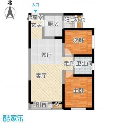 格调艺术领地92.00㎡6-7-8号楼2D户型