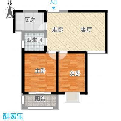 枫景湾家园91.53㎡高层6号楼标准层03户型