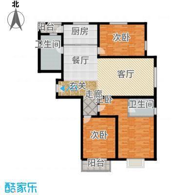 中铁四季公馆167.70㎡高层标准层A3户型