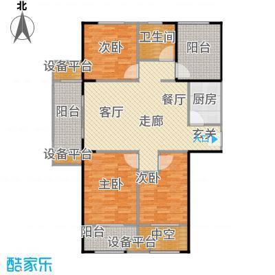 宏江中央广场116.00㎡一期A-1户型