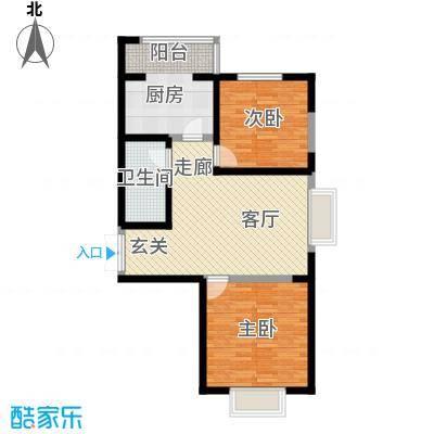 枫景湾家园103.39㎡高层3号楼标准层04户型