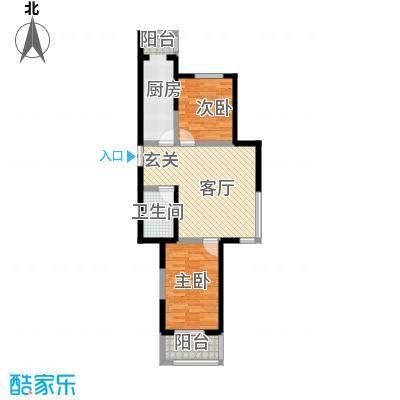 枫景湾家园98.14㎡高层4号楼标准层04户型