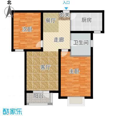 中铁四季公馆92.20㎡高层标准层C2户型