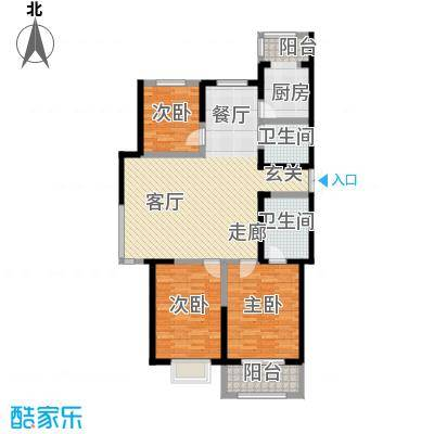 枫景湾家园143.00㎡高层4号楼标准层01户型