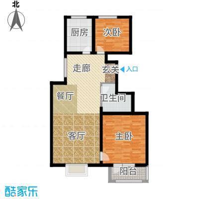 中铁四季公馆96.70㎡高层标准层B1户型
