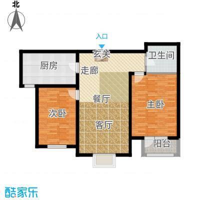 中铁四季公馆96.20㎡高层标准层A2户型