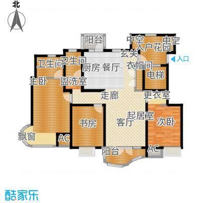 经纬城市绿洲滨海144.18㎡9、10、12号楼标准层D1户型