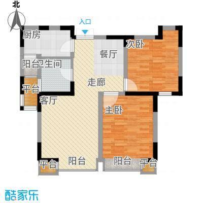 枫尚河院88.40㎡15、28、29号楼2-12层a户型