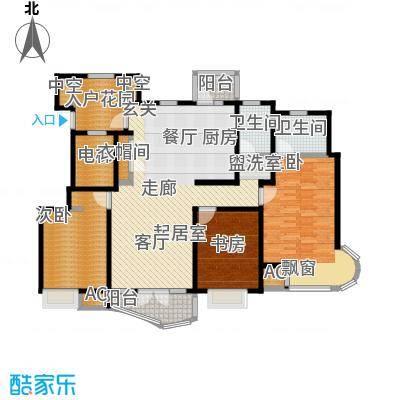 经纬城市绿洲滨海142.71㎡9、10、12号楼标准层D2户型