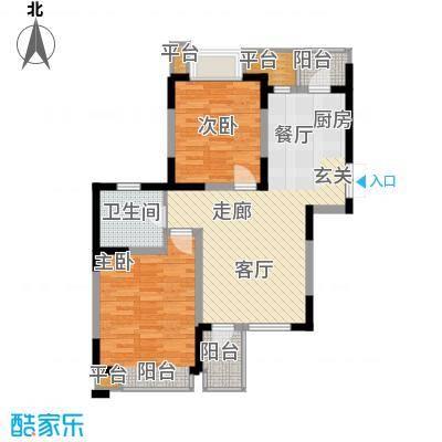 枫尚河院90.36㎡15、28、29号楼7、9、11、13层A户型