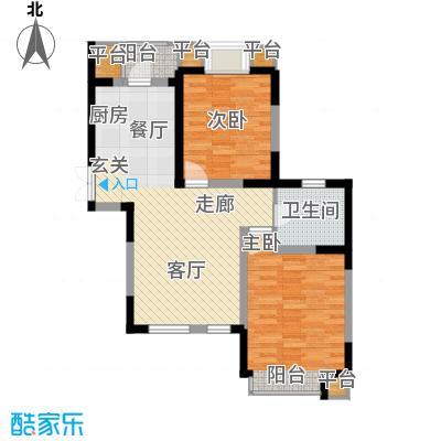 枫尚河院90.55㎡15、28、29号楼5、9、13层C户型