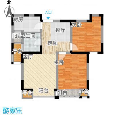 枫尚河院88.40㎡15、28、29号楼13-16层a户型
