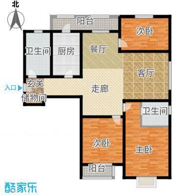 中铁四季公馆168.39㎡高层标准层C4户型