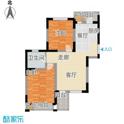 枫尚河院90.36㎡15、28、29号楼3-5-15层a户型