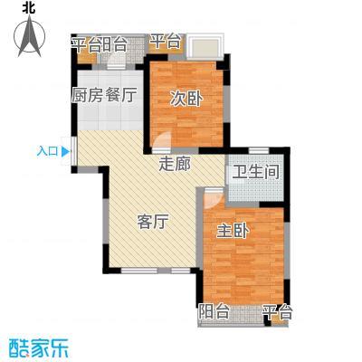 枫尚河院90.55㎡15、28、29号楼3、7、11、15、16层C户型