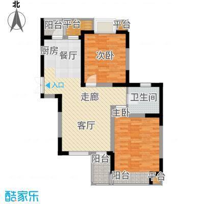 枫尚河院89.82㎡15、28、29号楼2、6、10、14层C户型