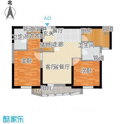 仁恒海河广场106.96㎡3#楼1门02户面积10696m户型