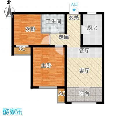 旭辉朗悦湾84.00㎡高层标准层H户型